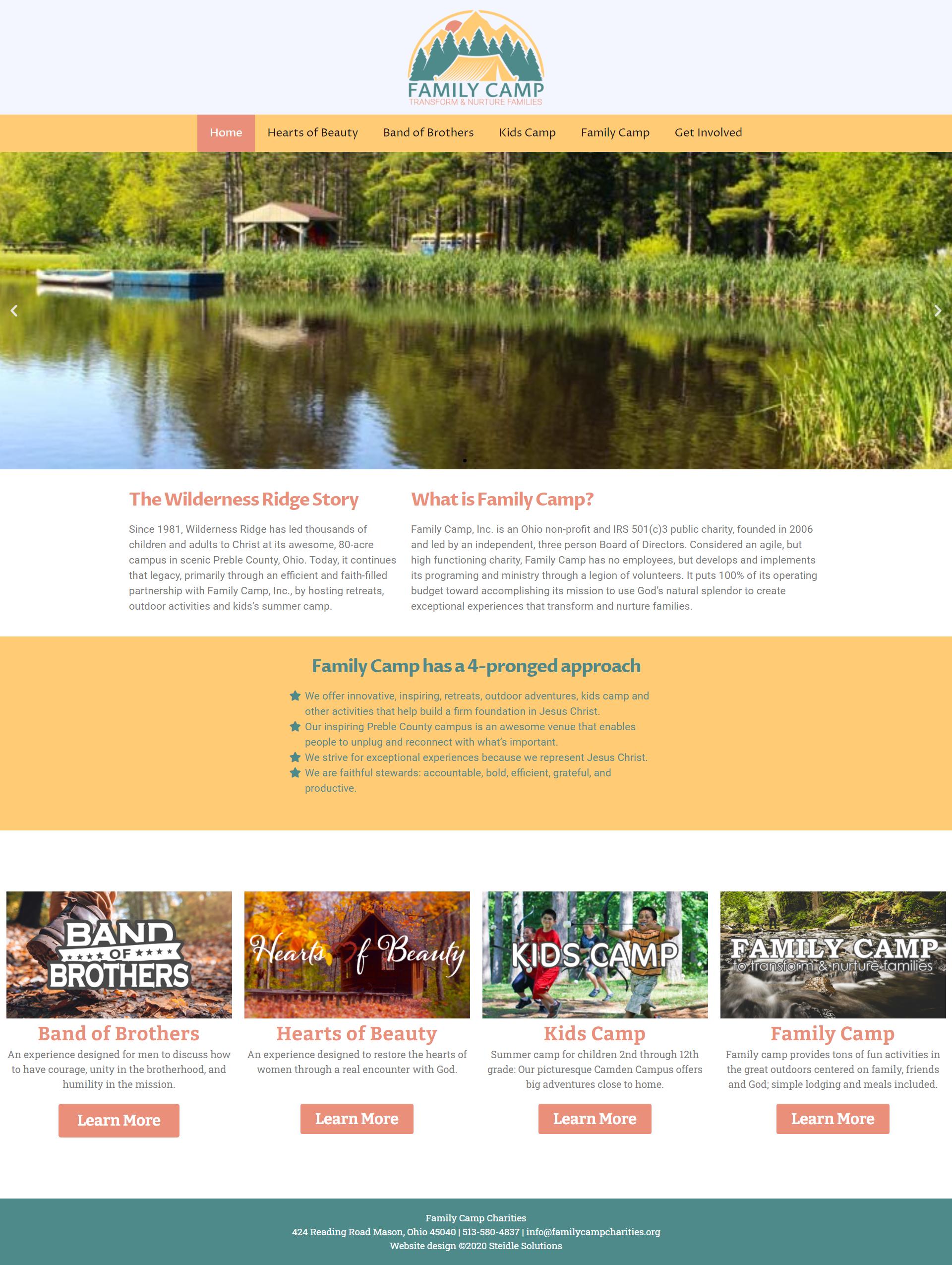 Family Camp Charities Homepage