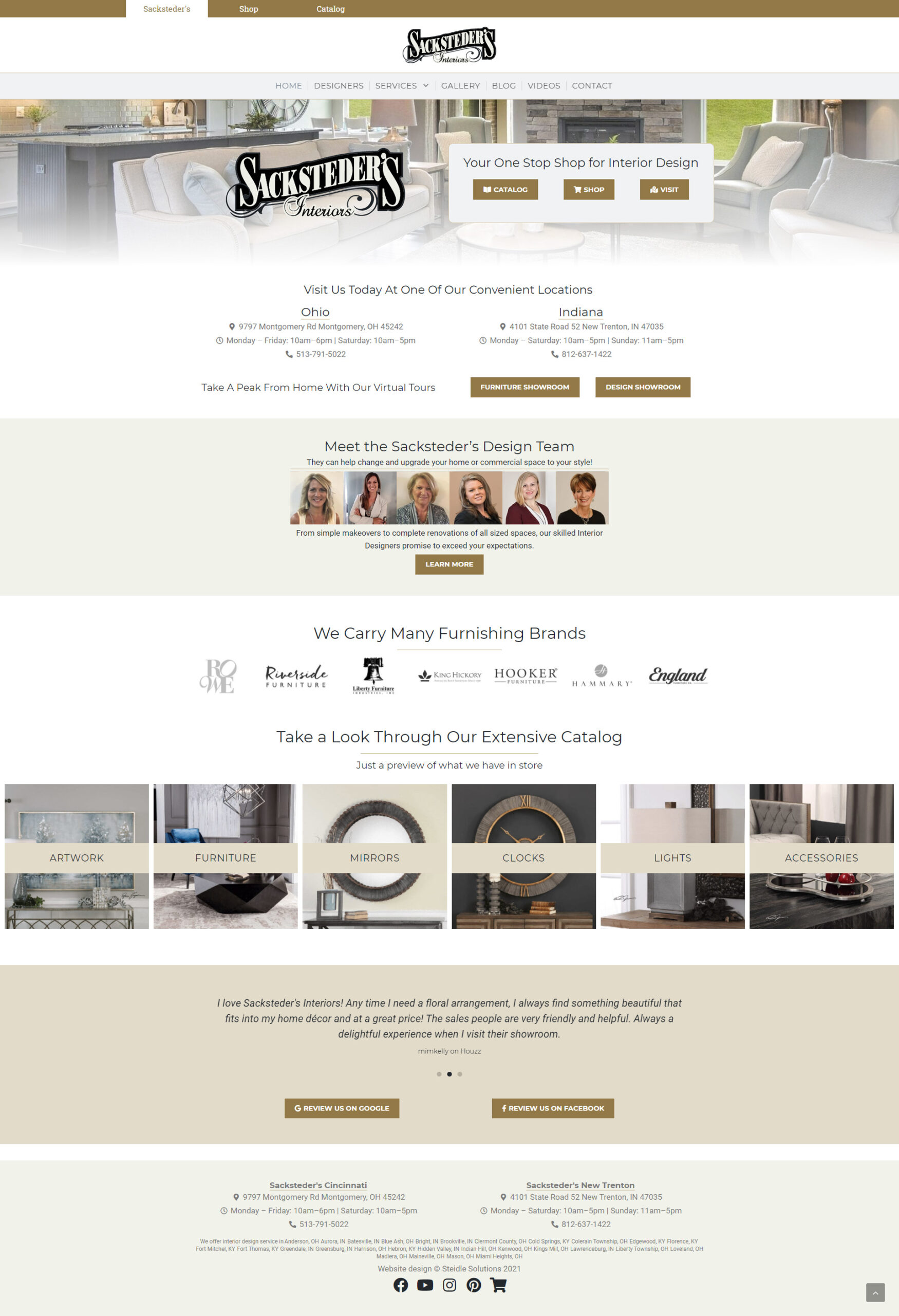 Sacksteder's Interiors Homepage