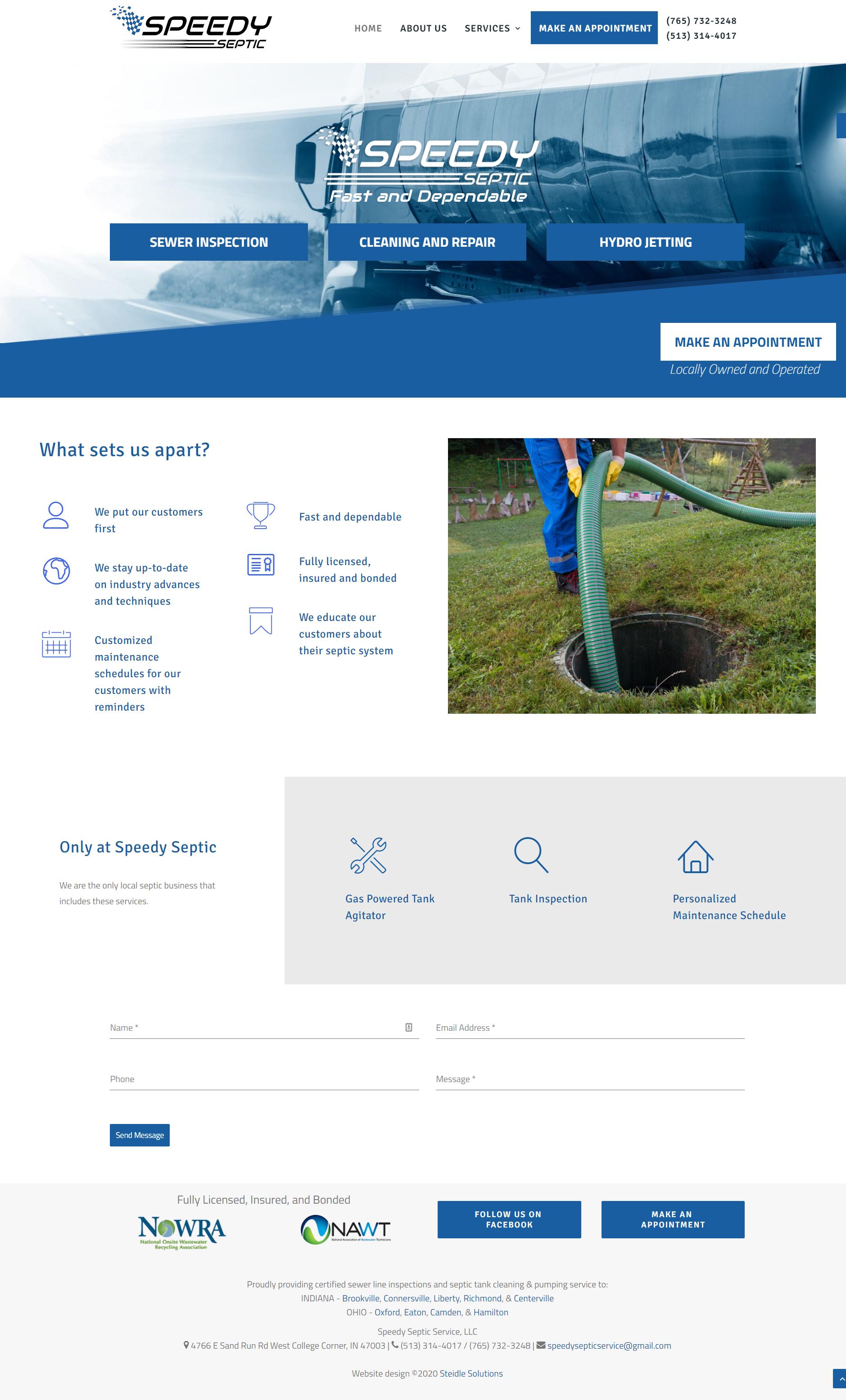 Speedy Septic Homepage